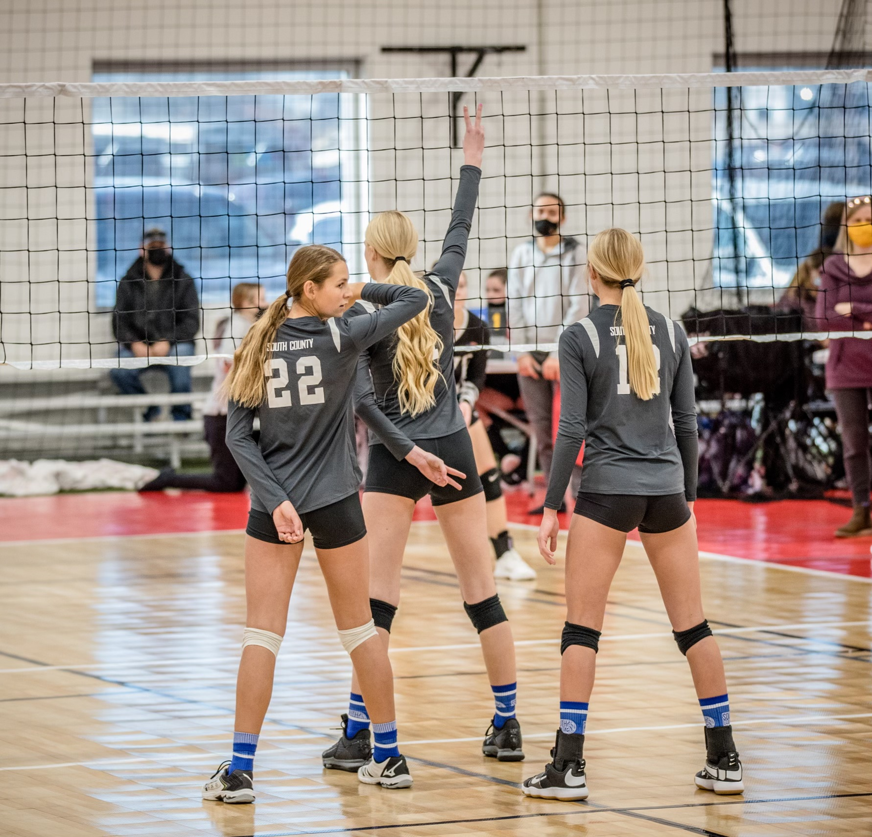 SCVC volleyball tournament on court with net